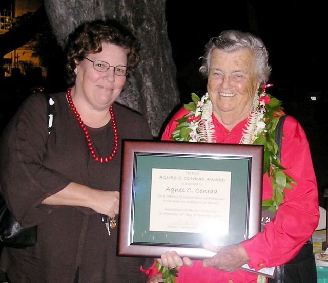 Agnes C. Conrad (2005 Recipient), Photo Credit: A. Wertheimer