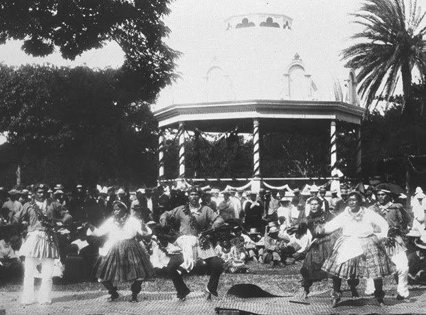 King Kalakaua's Jubilee on the grounds of 'Iolani Palace in 1886.