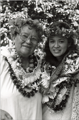 Auntie Nona Beamer & Maile Loo. Photo courtesy HPS.