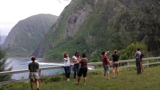Participants enjoying the view at Kalawao. Photo Credit: J. Sommer