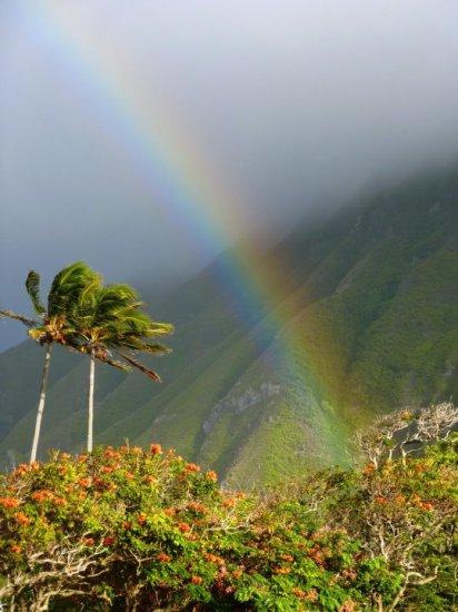 Rainbow over the settlement. Photo Credit: J. Sommer
