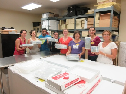 After we prepared cellulosic film for cold storage, we proudly posed with our finished products. Pictured left to right: Jill Sommer, Charise Michelsen, Joe Leleua, Nina Peck, Megan Ramsey, Celeste Ohta, Joy Holland Cesca, Amanda Lei Perron. Photo Credit: NPS/C. Mardorf.