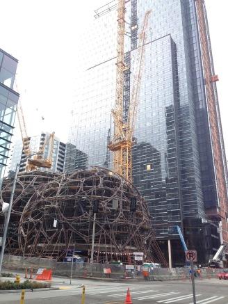 Amazon's new headquarters under construction
