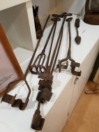 Branding irons on loan to the museum