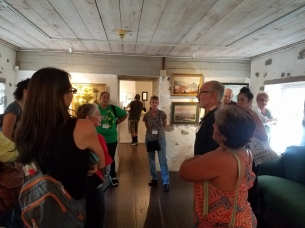 Docent Kimo talks to AHA about the history of the the museum, its structures, and the story of Edward Bailey.