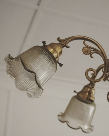 The home that houses the A&B archive belonged to a manager and came with more rooms and many decorative parts like this fancy lamp!