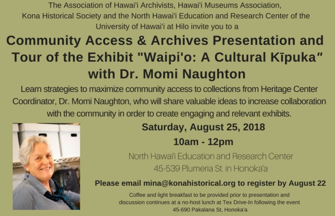 Community Access and Archives workshop flyer